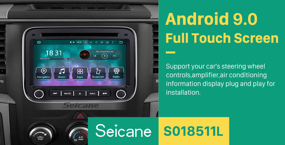 Seicane Android 9.0 2013 2014 2015 DODGE RAM 1500 2500 3500 4500 Замена стереосистемы GPS-радио Навигация 3G WiFi DVD Bluetooth USB SD