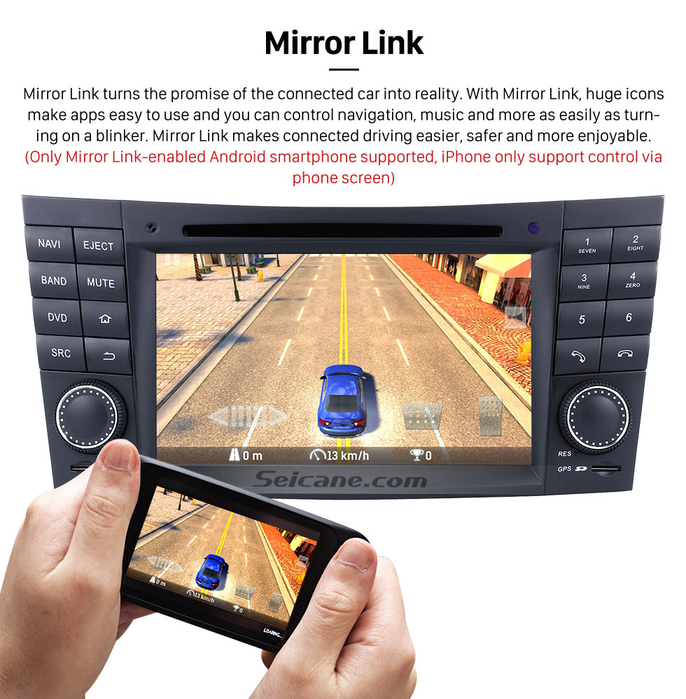 Seicane In dash Android 8.0 GPS Navigation system for 2005 2006 Mercedes-Benz CLS-W219 CLS350 CLS500 CLS55 with Radio Touch Screen Bluetooth DVD Player WiFi TV steering wheel control USB SD HD 1080P Video Backup Camera