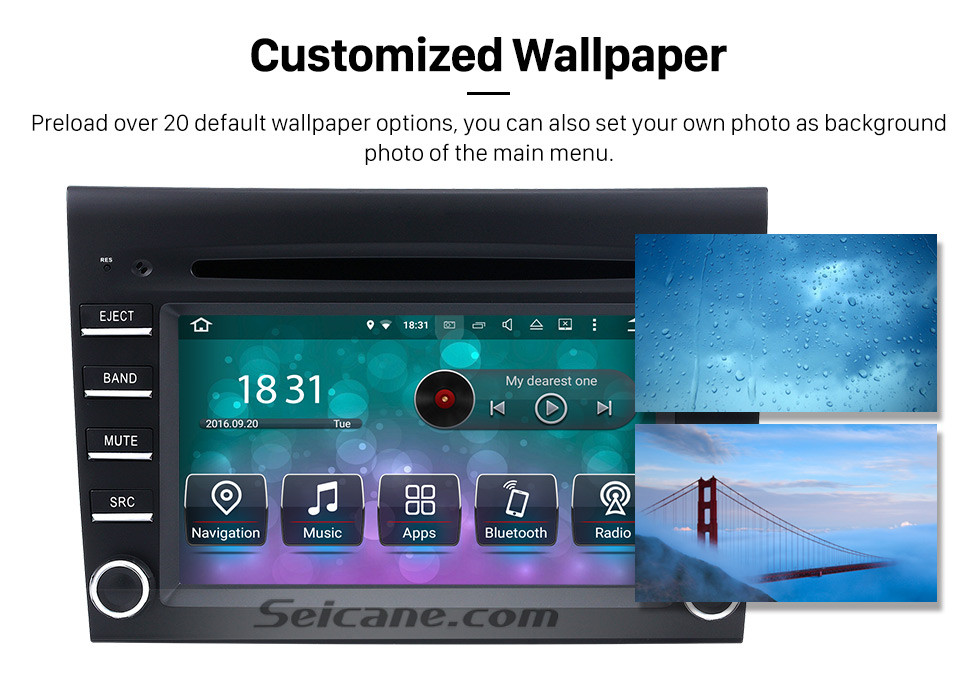 Seicane Aftermarket Android 9.0 GPS Navigation system for 2005-2008 Porsche BOXSTER with DVD Player Touch Screen Radio WiFi TV HD 1080P Video Rearview Camera steering wheel control USB SD Bluetooth