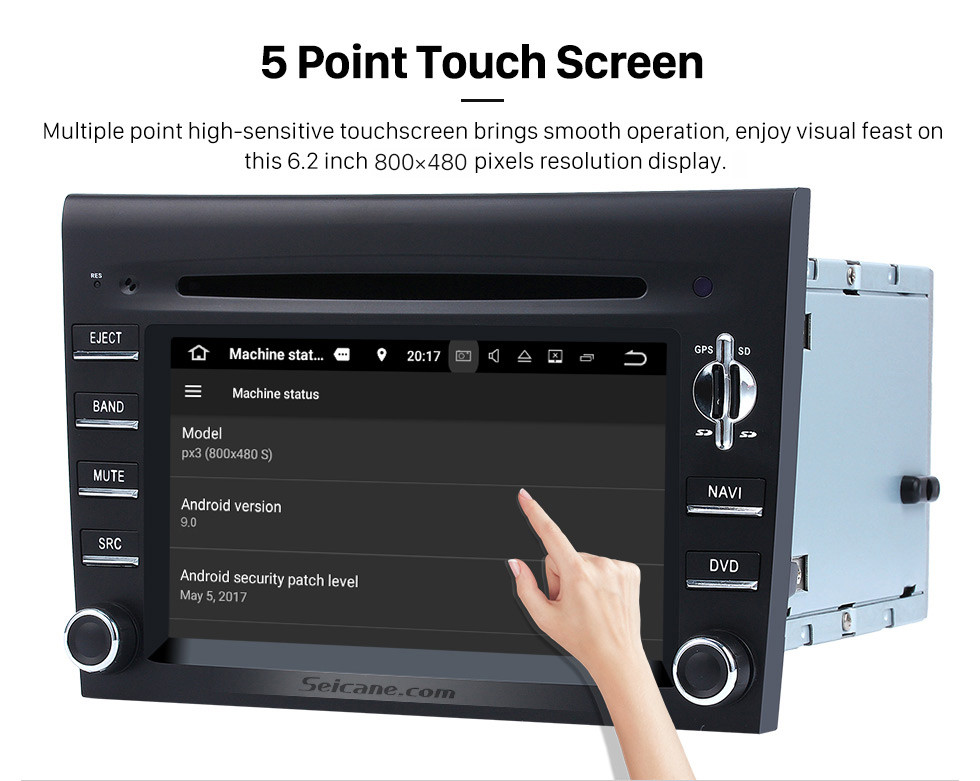 Seicane OEM Android 9.0 DVD Player GPS Navigation system for 2005-2008 Porsche CAYMAN with HD 1080P Video Bluetooth Touch Screen Radio WiFi TV Backup Camera steering wheel control USB SD