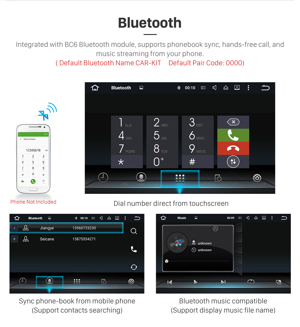 Seicane Android 8.0 HD Touchscreen In Dash Radio DVD Player For 2006-2013 Alfa Romeo Spider GPS Navigation Bluetooth Music WIFI Support Steering Wheel Control Rearview Camera OBD2 AUX
