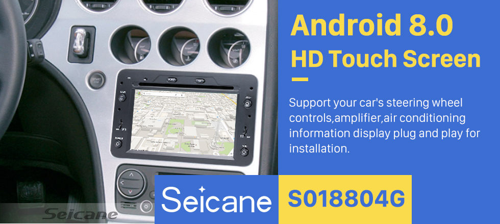 Seicane Android 8.0 HD Touchscreen Head Unit For 2005-2013 Alfa Romeo 159 Sportwagon Radio DVD Player GPS Navigation System Music Bluetooth 4G WIFI Support 1080P Video Backup Camera DAB+ DVR AUX