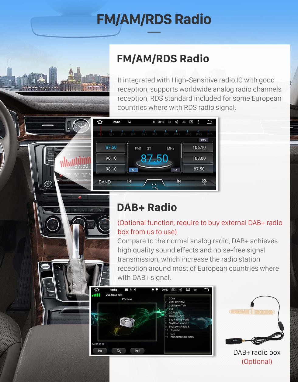 Seicane 6,2 Zoll HD Touchscreen Android 8.0 Radio Kopfeinheit Für 2004-2012 Fiat Panda In Dash DVD-Player GPS-Navigationssystem Bluetooth Telefon WIFI Unterstützung DVR USB Digital TV Lenkradsteuerung