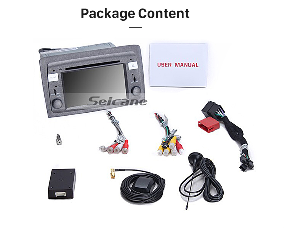 Seicane Android 8.0 HD Touchscreen In Dash DVD Player For 2004-2008 Lancia Musa Car Radio Head Unit GPS Navigation Bluetooth Music WIFI Support Mirror Link Steering Wheel Control Rearview Camera OBD2 AUX