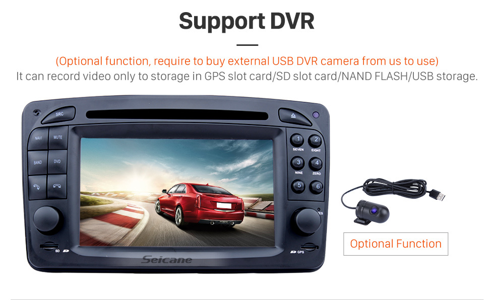 Seicane In dash Android 8.0 GPS Navigation system for 2001 Onwards Mercedes-Benz Viano with Radio Touch Screen Bluetooth DVD Player WiFi TV steering wheel control USB SD HD 1080P Video Backup Camera