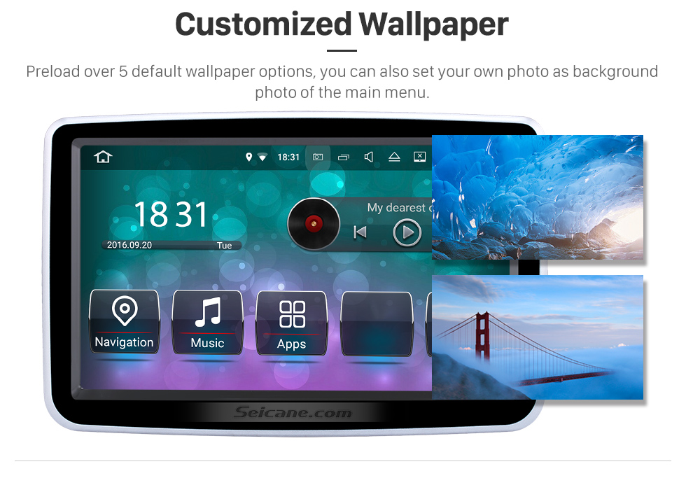 Seicane 8 Inch Android 8.0 HD 1024*600 Touchscreen for 2012-2016 Mercedes Benz A Class W176 with GPS Navigation system DVD Player  WiFi steering wheel control 1080P Video