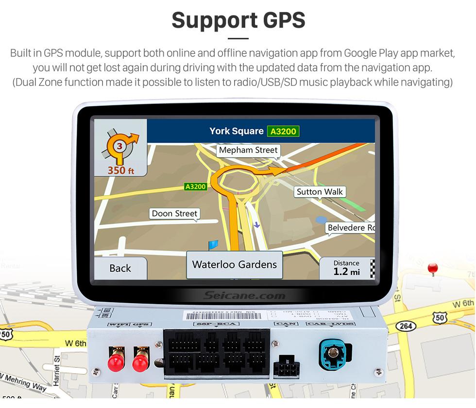 Seicane 8 pouces Android 8.0 HD 1024 * 600 écran tactile 2012-2016 Mercedes Benz Classe A W176 avec GPS Système de navigation Lecteur DVD WiFi contrôle du volant 1080P vidéo