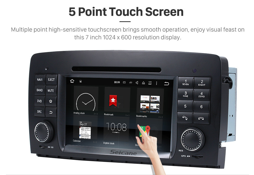 Seicane Android 8.0 GPS Navigation system for 2006-2012 Mercedes-Benz R class W251 R280 R320 R350 R500 with DVD Player Touch Screen Radio Bluetooth WiFi TV Backup Camera steering wheel control HD 1080P Video USB SD