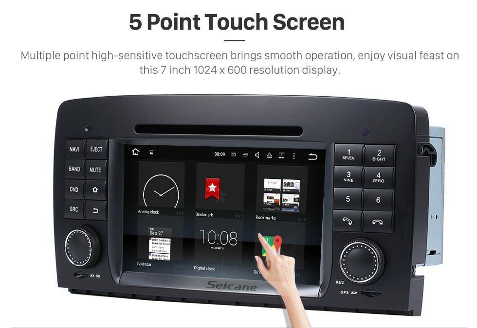 Seicane  Android 8.0 système de navigation GPS pour 2006-2012 Mercedes-Benz R class W251 R280 R320 R350 R500 avec Lecteur DVD Ecran tactile Radio Bluetooth WiFi TV Caméra de recul Contrôle  Volant HD 1080P Vidéo USB SD