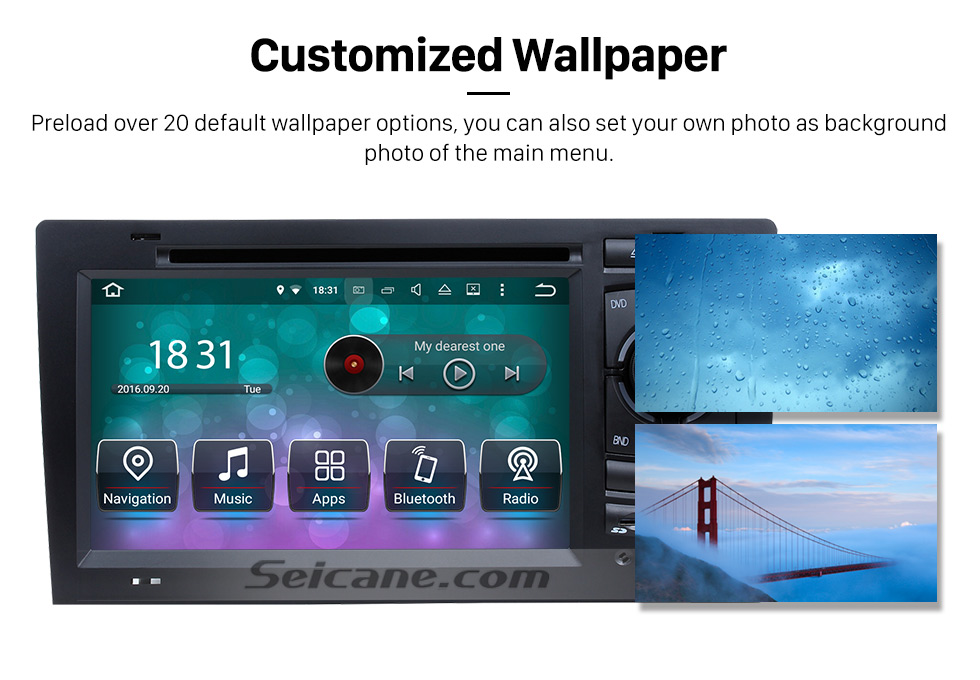 Seicane  Android 8.0 DVD Player GPS Navigation system for 1994-2003 Audi A8 S8  with HD 1080P Video Bluetooth Touch Screen Radio WiFi TV Backup Camera steering wheel control USB SD