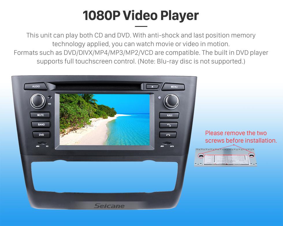 Seicane Android 8.0 GPS Radio DVD for 2004-2012 BMW 1 Series E81 E82 E88 (automatic air-conditioner +heated seat) 116i 116d 118i 118d 120i 120d 123d 125i 128i 130i 135i with 3G WiFi Mirror Link OBD2 Rearview Camera DVR