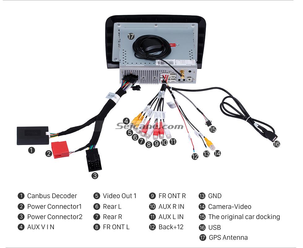 Seicane Android 8.0 Unidad de radio con pantalla táctil HD para 2005-2012 Fiat Croma Reproductor de DVD del coche Sistema de navegación GPS Teléfono Bluetooth Soporte de WIFI TV digital DVR Control del volante USB