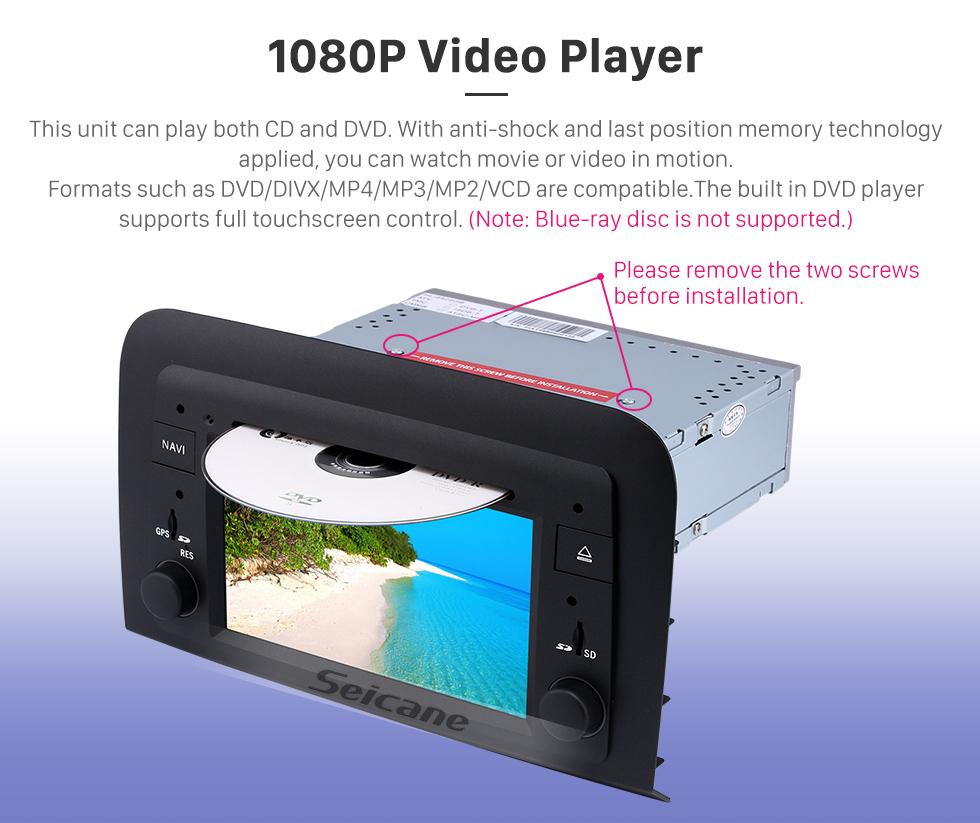 Seicane Android 8.0 HD Touchscreen Radio Kopfeinheit Für 2005-2012 Fiat Croma Auto DVD-Player GPS Navigationssystem Bluetooth Telefon WIFI Unterstützung Digital TV DVR USB Lenkrad Steuerung