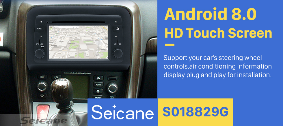 Seicane Android 8.0 HD Touchscreen Radio Head Unit For 2005-2012 Fiat Croma Car DVD Player GPS Navigation System Bluetooth Phone WIFI Support Digital TV DVR USB Steering Wheel Control