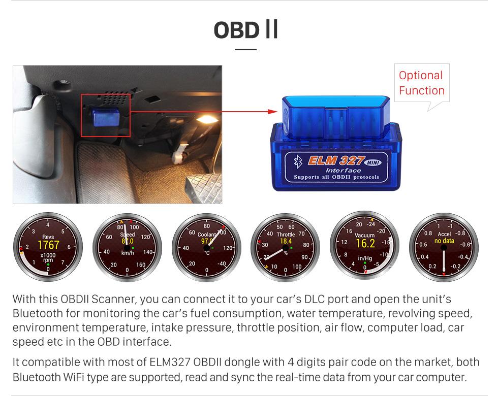 Seicane Android 8.0 HD Écran tactile Aftermarket Radio pour 2007-2013 Alfa Romeo GT Voiture Stéréo Lecteur DVD Système de Navigation GPS Bluetooth Téléphone Musique Soutien Caméra de Recul 1080 P Vidéo Miroir Lien OBDII DVR Volant Contrôle