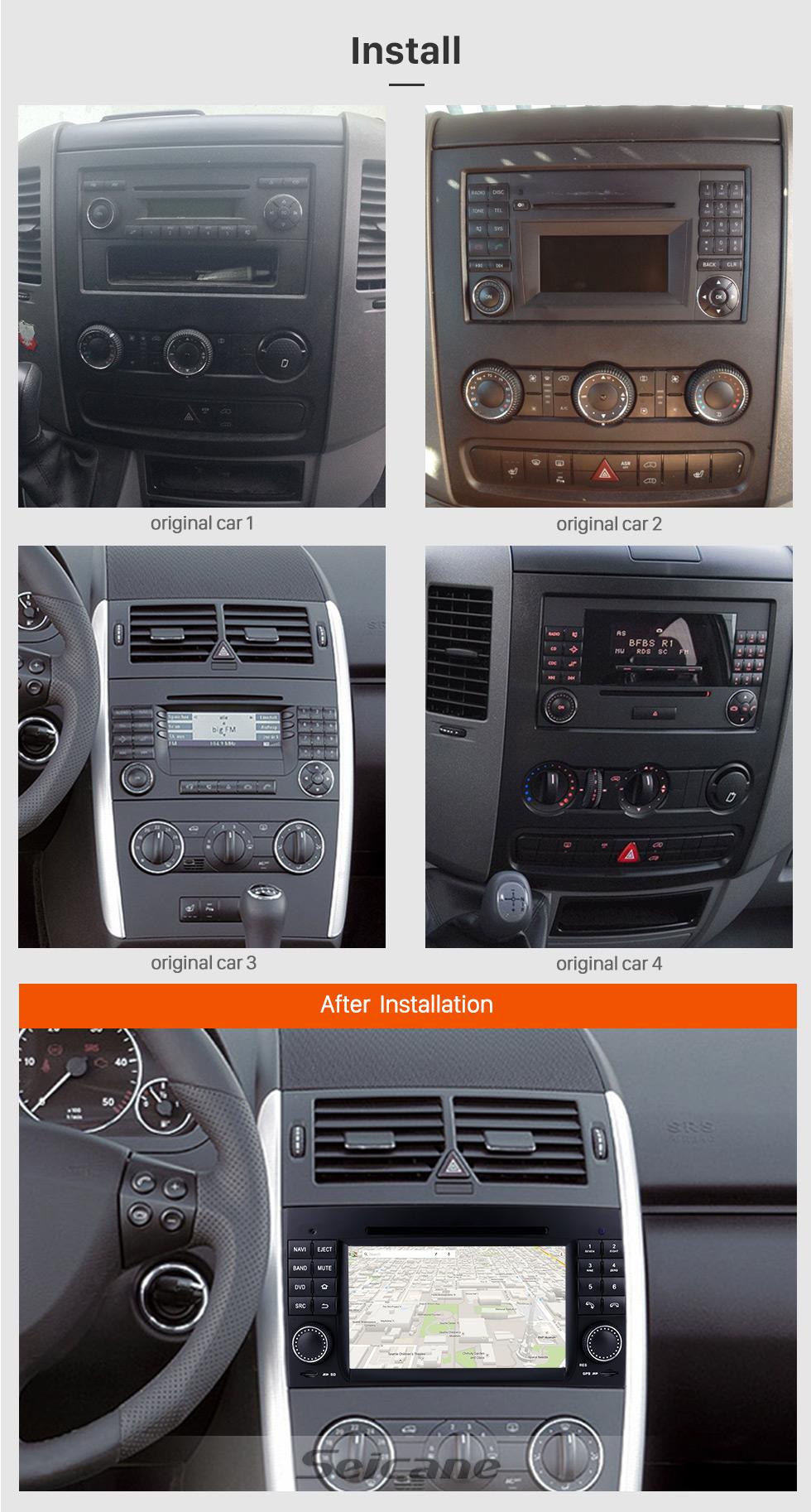 Seicane 2006-2012 Mercedes Benz Viano Vito W639 Android 8.0 GPS Navigationssystem Radio DVD Player Touch Screen TV HD 1080P Video Rückfahr kamera Lenkrad-Steuerung USB SD Bluetooth WiFi