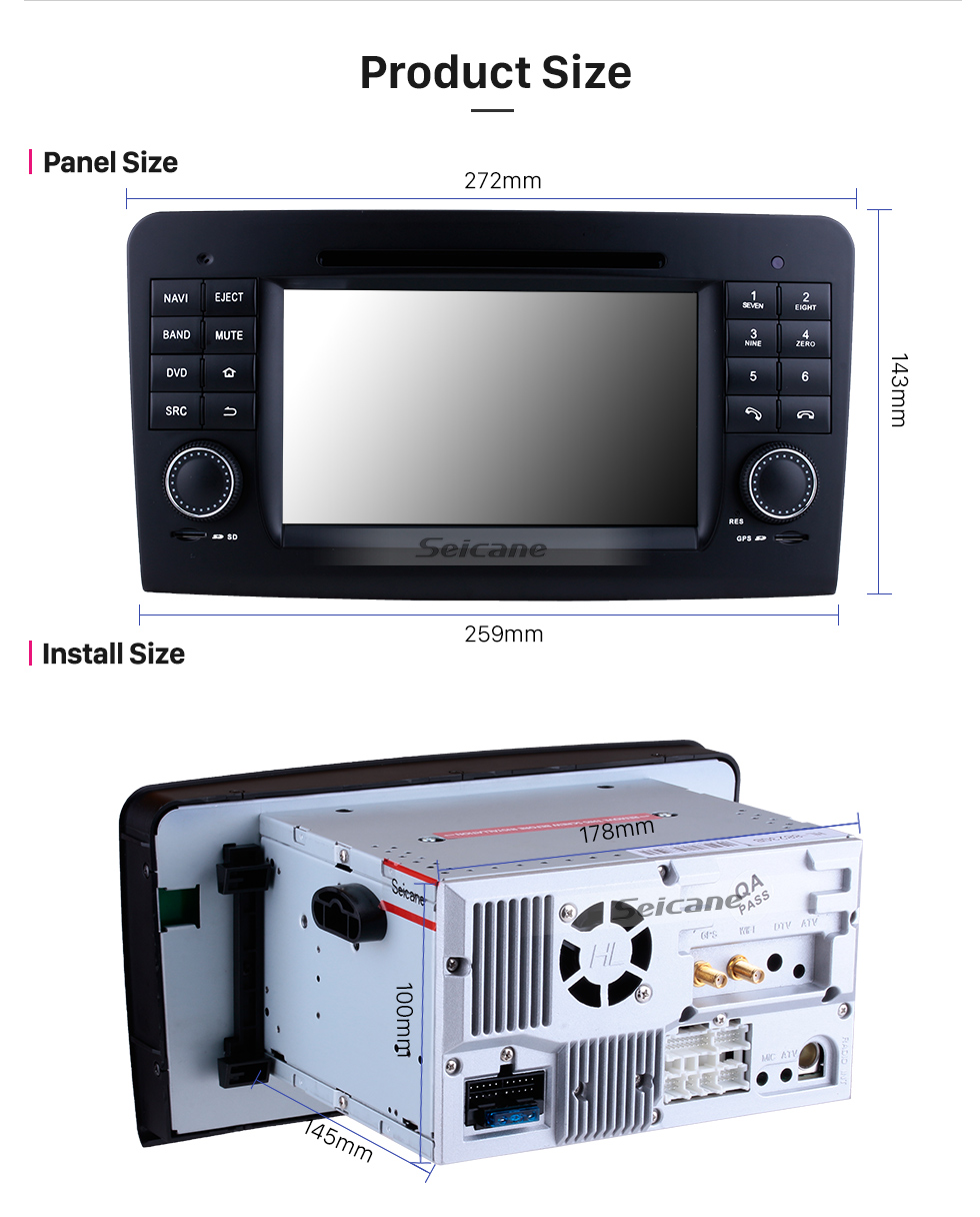 Android 8 0 GPS Navigation system for 2005-2012 Mercedes