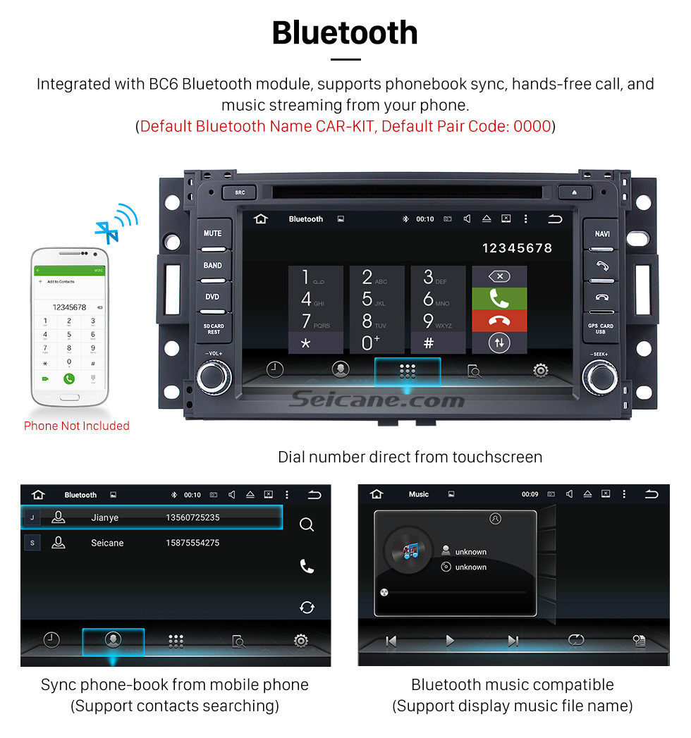 Seicane OEM Android 9.0 Radio GPS for 2000- Buick GL8 with DVD Player HD Touch Screen Bluetooth WiFi TV Backup Camera Steering Wheel Control 1080P