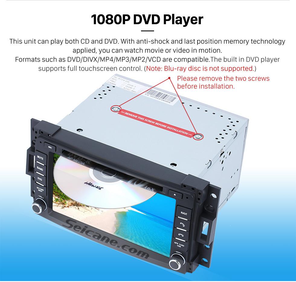 Seicane 2005 2006 2007 Chevrolet Uplander Android 9.0 Radio GPS Lecteur DVD à écran tactile Bluetooth WiFi TV Caméra de recul Contrôle du volant 1080P
