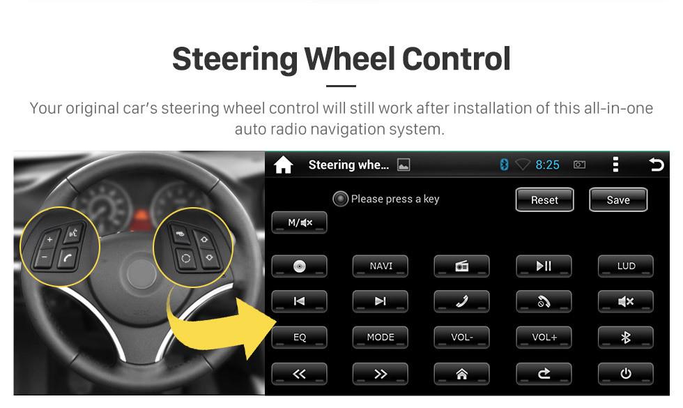Seicane 2005 2006 2007 Chevrolet Uplander Android 9.0 Radio GPS Reproductor de DVD con pantalla táctil Bluetooth WiFi TV Cámara de respaldo Control del volante 1080P