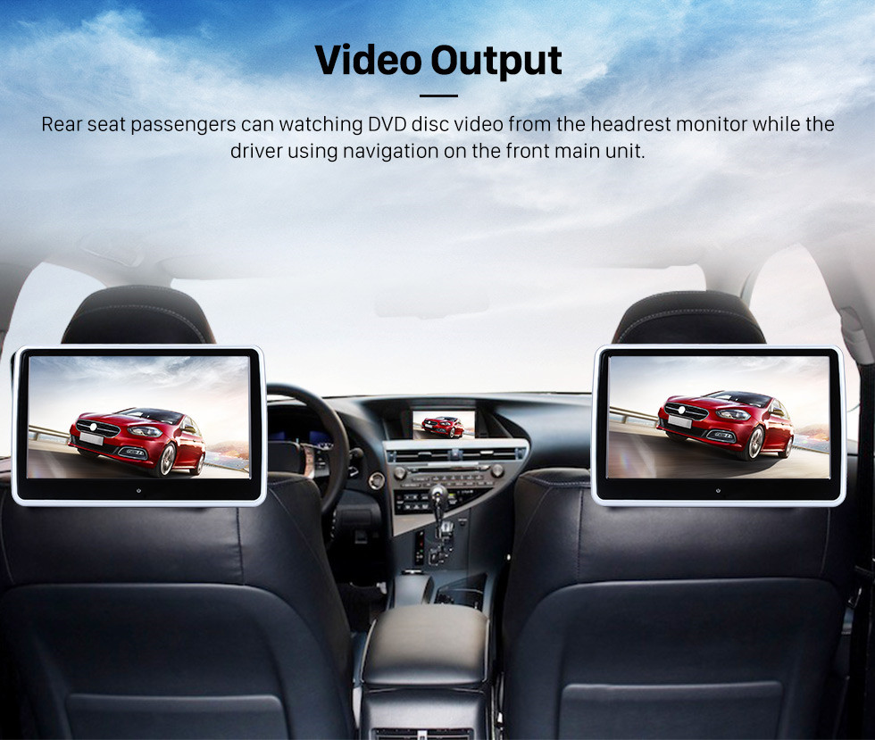 Seicane 2005 2006 Chevrolet Corvette Android 9.0 Radio GPS Navigation with DVD Player HD Touch Screen Bluetooth WiFi TV Backup Camera 1080P Steering Wheel Control