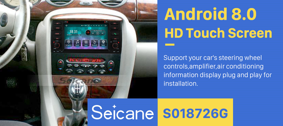 Seicane Aftermarket Radio Android 8.0 HD Touchscreen DVD Player For 2007-2010 Rover 75 Car Stereo GPS Navigation System Bluetooth Phone WIFI Support OBDII DVR Steering Wheel Control Mirror Link Backup Camera USB