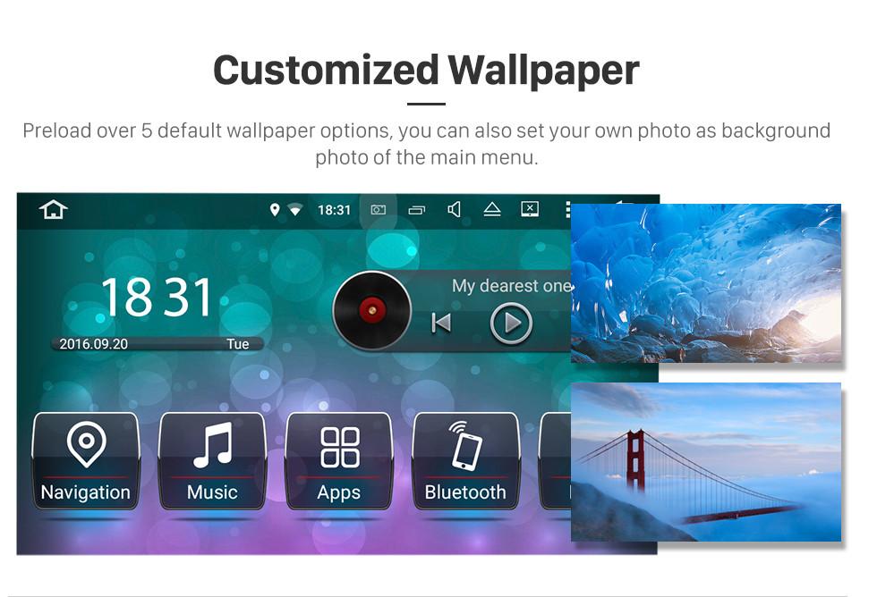 Seicane Android 8.0 2007-2010 ROVER MG7 7 Pouce HD Écran tactile Unité principale Autoradio Stéréo Lecteur de DVD Système de navigation GPS Musique Bluetooth 4G WIFI Soutien 1080P Video Caméra de recul DAB+ DVR