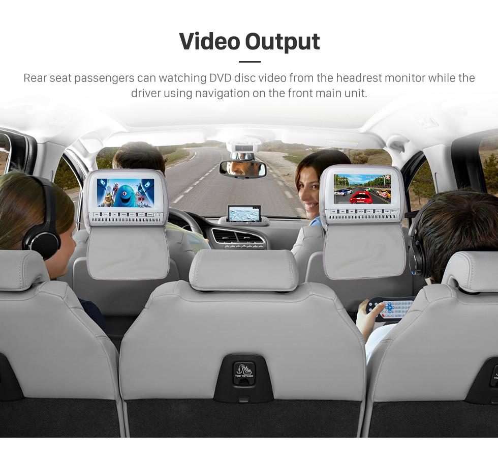 Seicane Android 8.0 2007-2010 ROVER MG7 7 pulgadas Unidad de pantalla táctil HD Head Radio para automóvil Reproductor de DVD estéreo Sistema de navegación GPS Música Bluetooth 4G WIFI Soporte Cámara de respaldo de video 1080P DAB + DVR