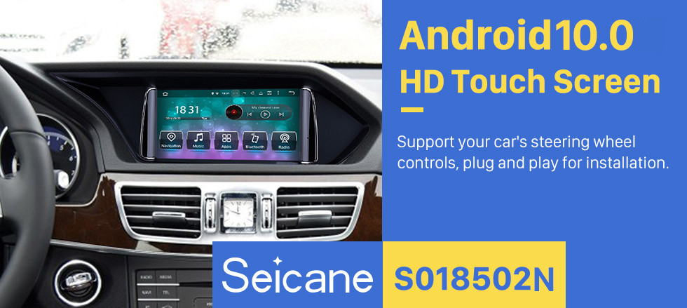 Seicane 7 inch Android 9.0 For 2013 2014 2015 Mercedes Benz E Class W212 E200 E250 E350 E400 Radio GPS Navigation System HD Touchscreen Bluetooth support DVR