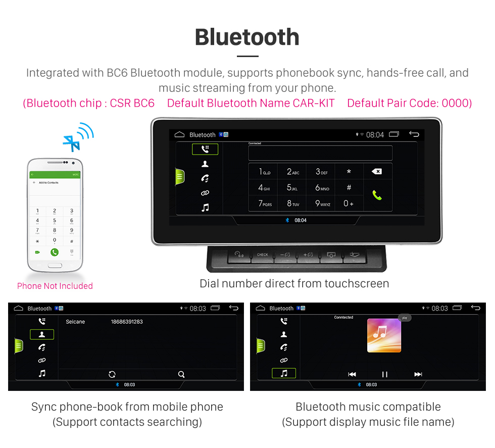 Seicane 10,25 polegadas sistema de navegação GPS de carro estéreo 7.1 unidade de cabeça estéreo para 2011-2015 audi a6 com 1280 * 480 touchscreen WIFI FM AM Bluetooth música suporte USB controle de volante câmera retrovisor