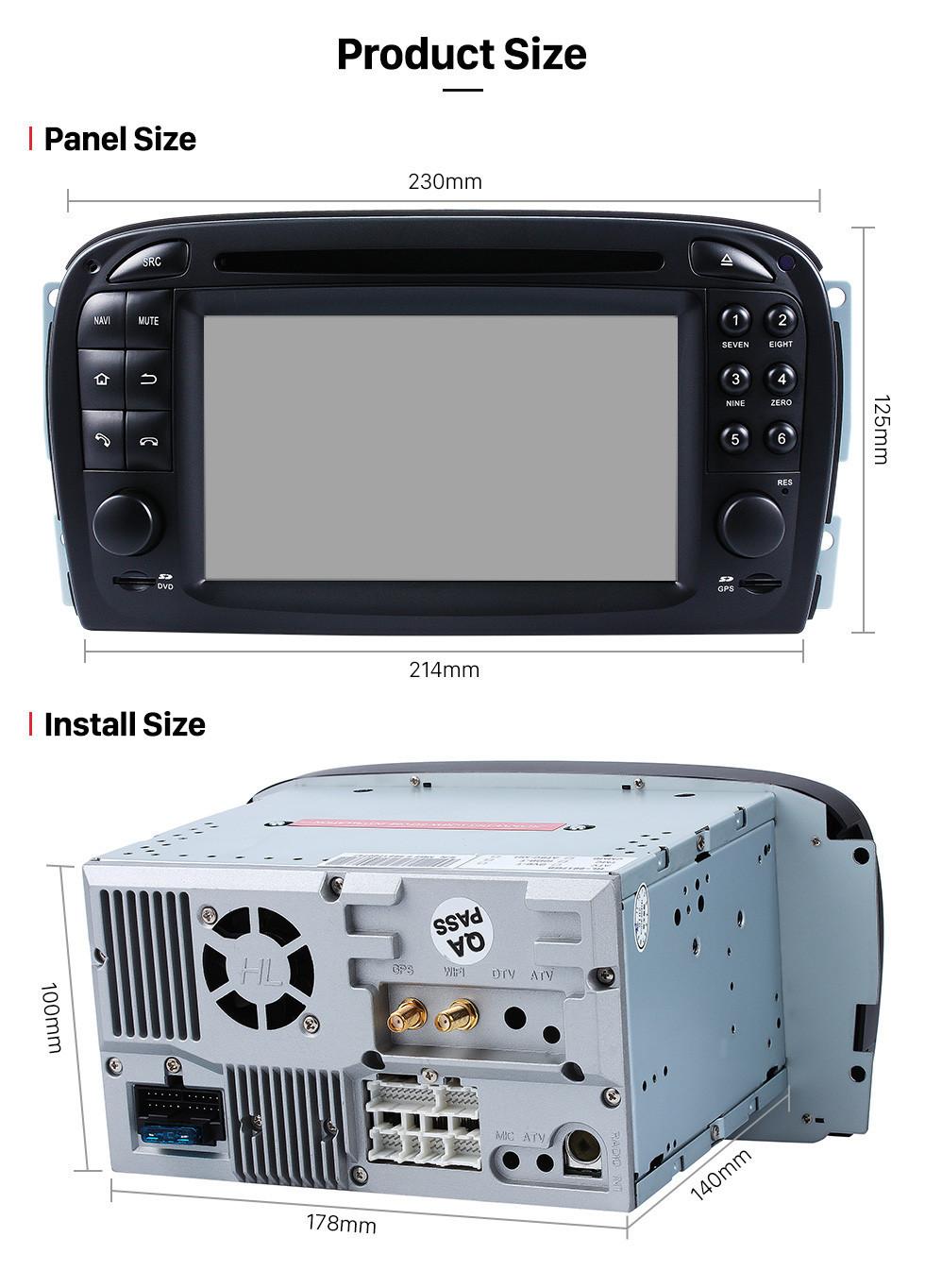 Seicane Android 10.0 Car dvd player 7 inch for Mercedes SL R230 SL350 SL500 SL55 SL600 SL65 with GPS Radio TV Bluetooth