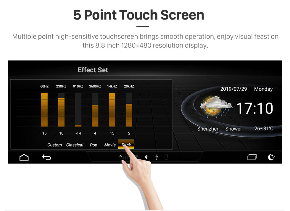 Seicane 8,8 Zoll Android 9.0 GPS Navigationsradio für 2005-2009 Audi A6 mit HD Touchscreen Bluetooth Unterstützung Carplay TPMS OBD2