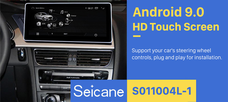 Seicane HD touchscreen 10.25 Inch Android 9.0 GPS Navigation Radio for 2009-2014 AUDI A4 with Bluetooth music WIFI FM AM Support Rearview Camera Steering Wheel Control Carplay