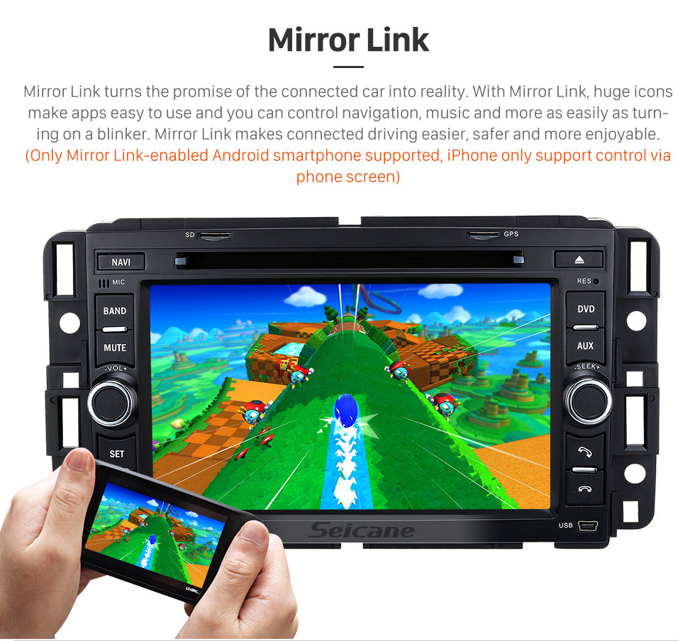 Seicane OEM Android 9.0 Sistema de Navegação GPS 2006-2011 Buick Lucerne com Rádio DVD Player Bluetooth Tela Sensível Ao Toque DVR WIFI Controle de Volante
