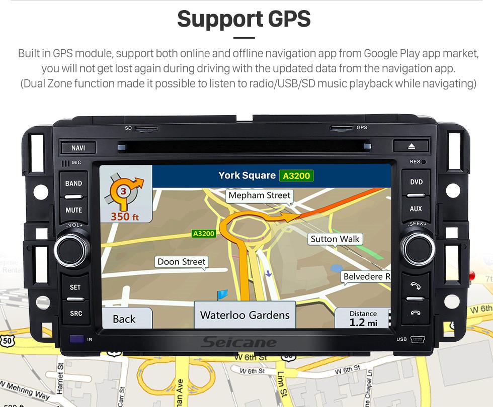 Seicane 1024 * 600 Touchscreen Android 9.0 2008-2013 Hummer H2 DVD GPS Navigationssystem mit Bluetooth Musik Spiegel Link OBD2 Wifi Lenkradsteuerung