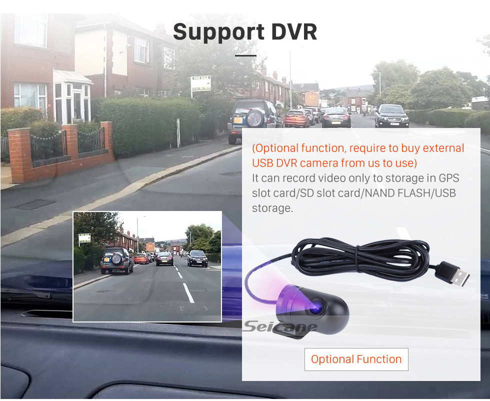 Seicane 2007-2011 Chevrolet Chevy Suburban Android 9.0 Sistema de navegación GPS para radio con reproductor de DVD Bluetooth Pantalla táctil DVR WIFI TV Control del volante