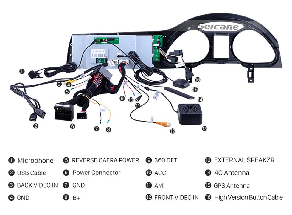 Seicane 10.25 pulgadas para 2010 2011 2012 2013 2014 2015 Audi Q7 Radio Bluetooth Android 9.0 HD Pantalla táctil Soporte de navegación GPS Carplay DAB + DVR