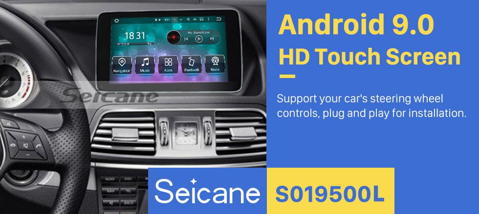 Seicane 2016 2017 2018 Mercedes Benz E W213 S213 E200 E250 E300 E400 AMG E63 Android 9.0 HD Touchscreen 9 inch Radio GPS Navigation System Stereo USB Bluetooth Wifi Carplay Steering Wheel Control