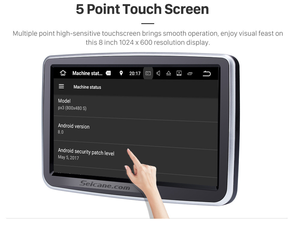 Seicane 8 inch 2013-2016 Mercedes-Benz GLA Class Android 9.0 HD 1024*600 Touchscreen GPS Navigation system WiFi steering wheel control HD 1080P Video