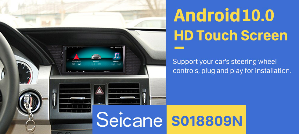 Seicane 2008-2016 Mercedes Benz GLK X204 GLK350 GLK320 GLK280 GLK250 GLK220 GLK200 7 inch Android 9.0 Radio GPS Navigation Upgrade DVD Player HD Touchscreen Bluetooth WIFI 1080P Steering Wheel Control