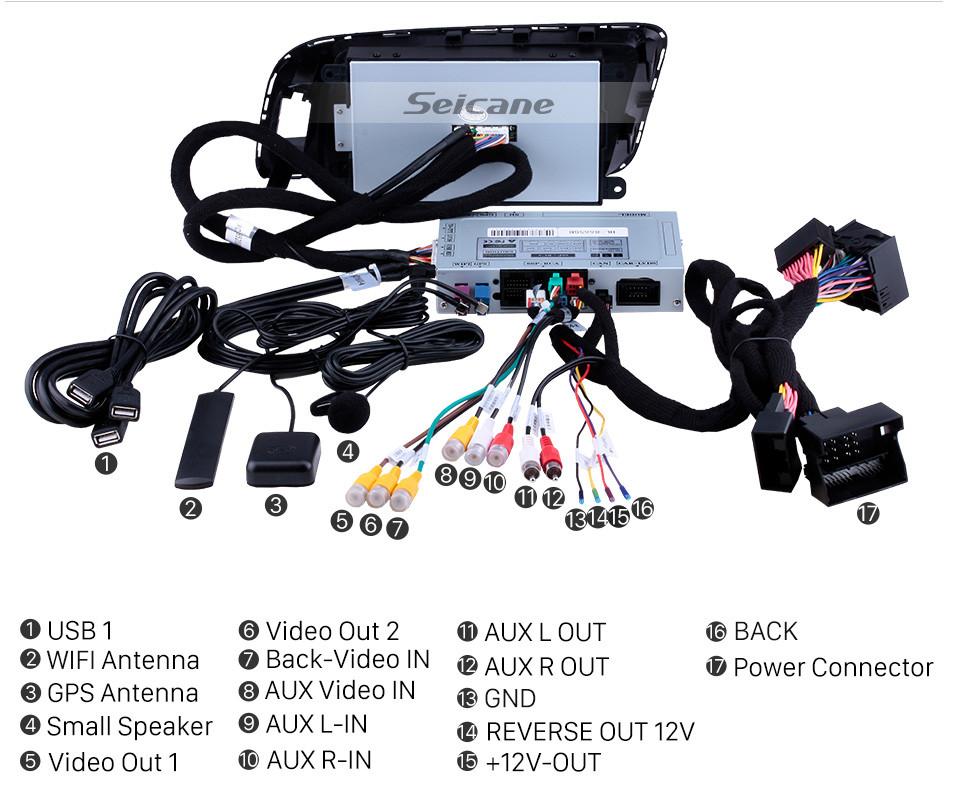 Seicane 2009-2018 AUDI A4 A5 Q3 Левое рулевое управление Автомобильный радиоприемник GPS-навигатор Android 9.0 HD Сенсорный экран 7-дюймовый автоматический стерео 1080P видеоплеер Bluetooth-телефон Wi-Fi USB Carplay Управление рулевого колеса