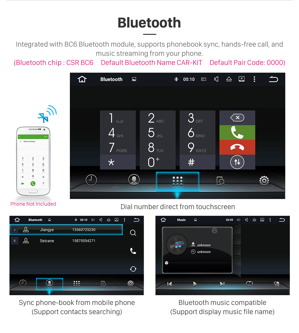 Seicane Android 9.0 Radio 8 Zoll GPS Navigation für 2011-2018 AUDI Q3 Head Unit HD Touchscreen Video Player USB Bluetooth Carplay Lenkradsteuerung WIFI 1080P Digital TV Unterstützung OBD2 TPMS