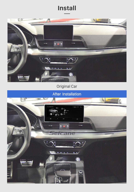 Seicane 10,25-дюймовый Android 9.0 Автомобильный радиоприемник Стерео GPS-навигатор Штатная магнитола для 2017 AUDI Q5 с сенсорным экраном WIFI FM AM Bluetooth музыка Поддержка Carplay DVR Управление рулевого колеса