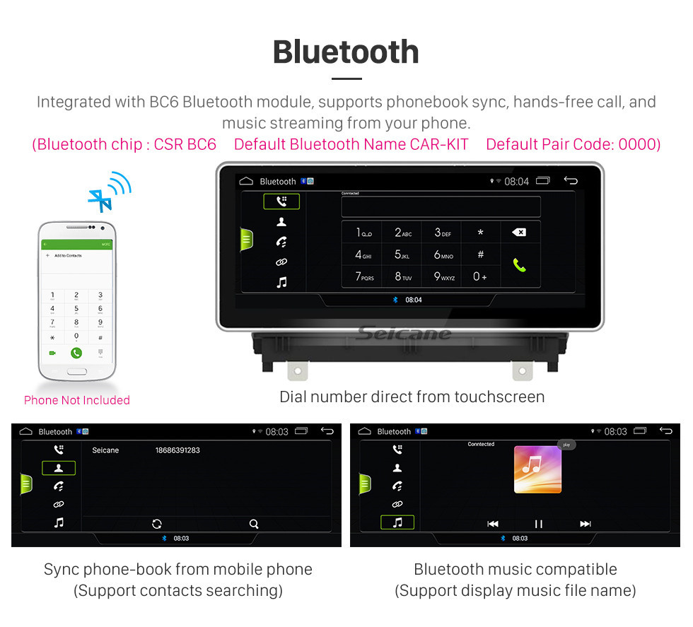 Seicane 10.25 Inch 2017 AUDI A3 Android 9.0 Car GPS Navigation System Radio Stereo Head Unit with touchscreen WIFI FM AM Bluetooth music Support Carplay  DVR Rearview Camera