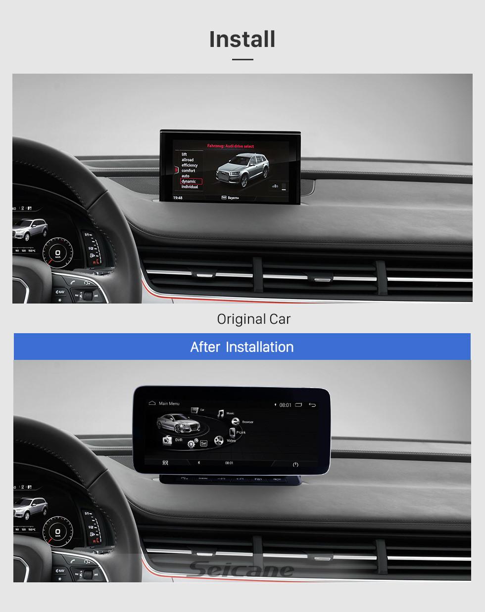 Seicane 10,25 Zoll 2006-2015 AUDI Q7 Android 9.0 Autokopfeinheit GPS-Navigationssystem Radio Stereo mit Touchscreen WIFI FM AM Bluetooth Musikunterstützung Lenkradsteuerung Rückfahrkamera USB