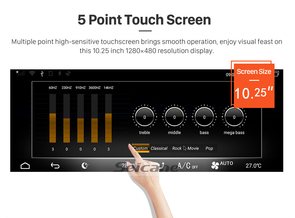 Seicane Android 9.0 10.25 inch for Mercedes-Benz A-W176/G-W460/GLA-X156/CLA-C117/CLS-C218(2015--)(NTG 5.0/5.1) Radio Bluetooth HD Touchscreen GPS Navigation support TPMS Carplay