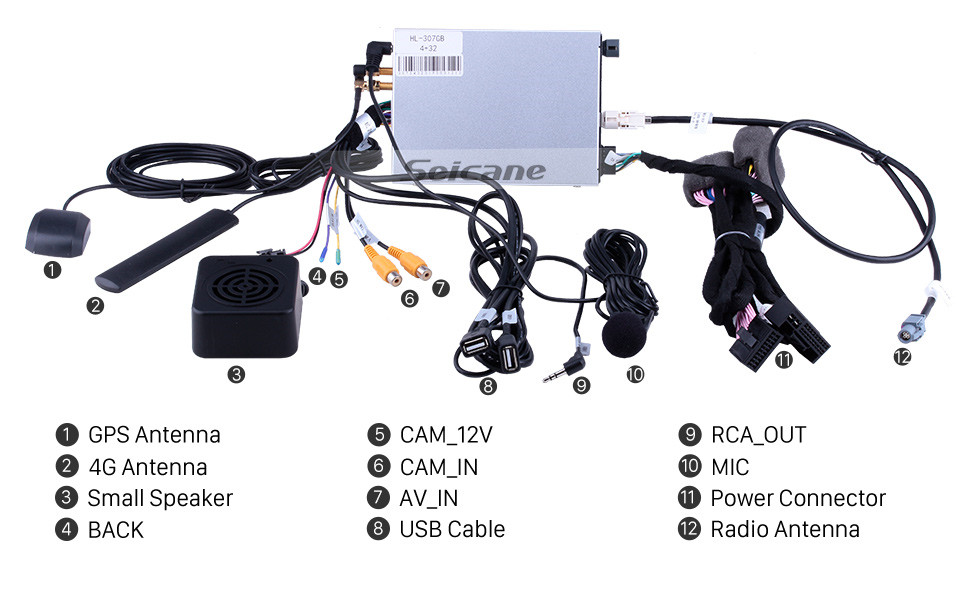 Seicane Pantalla táctil HD de 8 pulgadas para 2012 2013 2014 2015 2016 2017 2018 Audi A6 / A7 Radio Navegación GPS Android 9.0 con Bluetooth WIFI Soporte USB Carplay Cámara de visión trasera