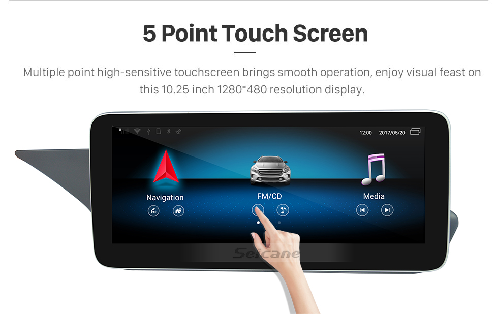 Seicane 10.25 inch Android 9.0 for Mercedes Benz E Class sedan Left-hand Driving W212 E180 E200 E260 E300 E320 E350 E400 E500 E550 E63AMG 2010-2015 Radio Bluetooth HD Touchscreen GPS Navigation System support Carplay DAB+ DVR
