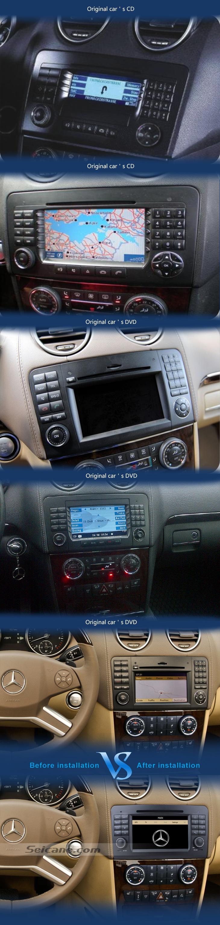 Original car radio Car dvd player for Benz GL CLASS with GPS Radio TV Bluetooth