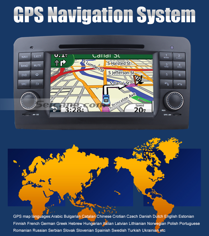 GPS Navigation System Car dvd player for Benz GL CLASS with GPS Radio TV Bluetooth